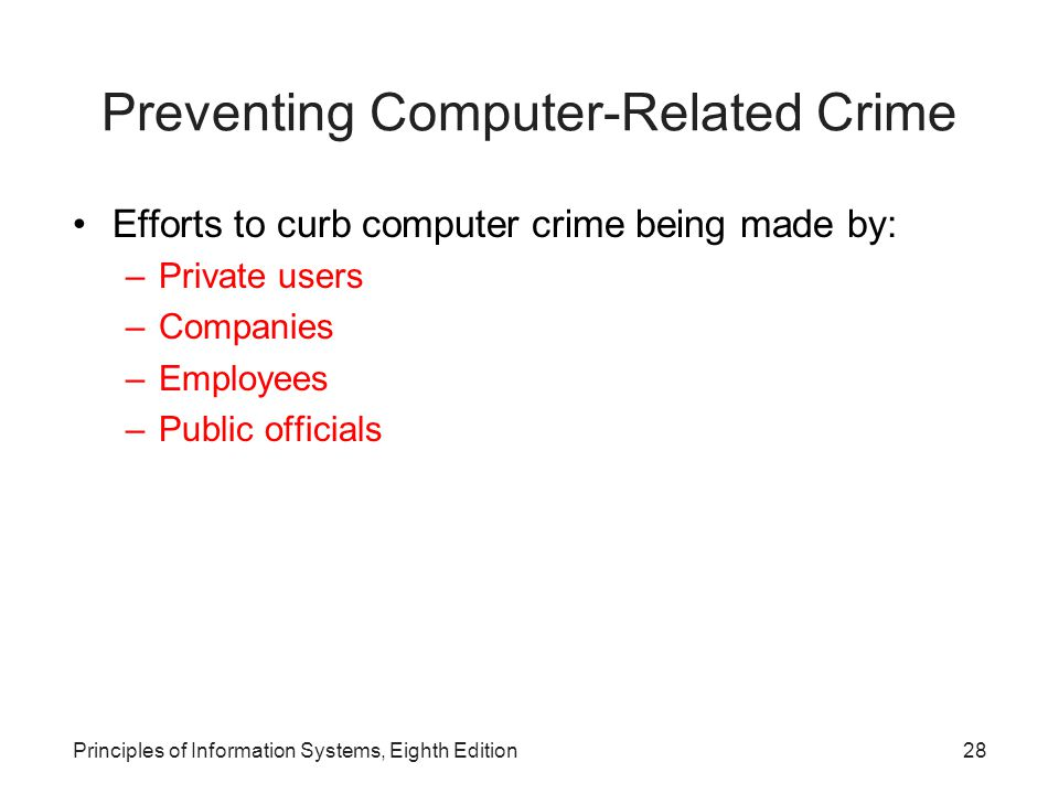 Preventing Computer-Related Crime