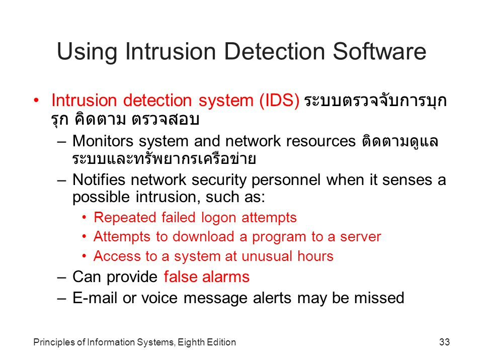 Using Intrusion Detection Software