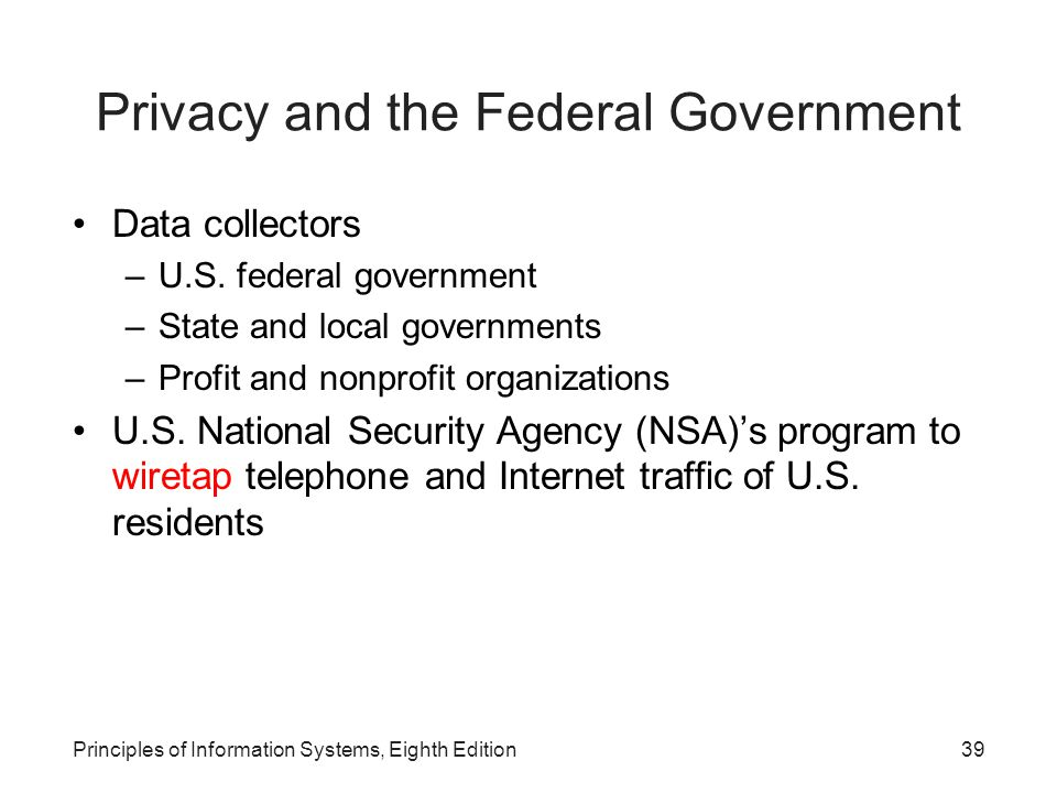 Privacy and the Federal Government