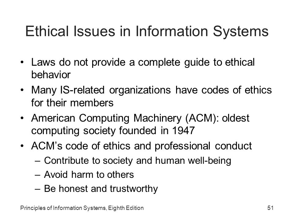 Ethical Issues in Information Systems