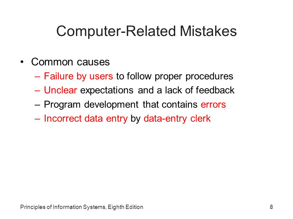 Computer-Related Mistakes