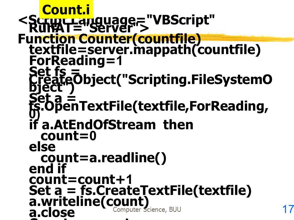 <Script Language= VBScript RunAT= Server >