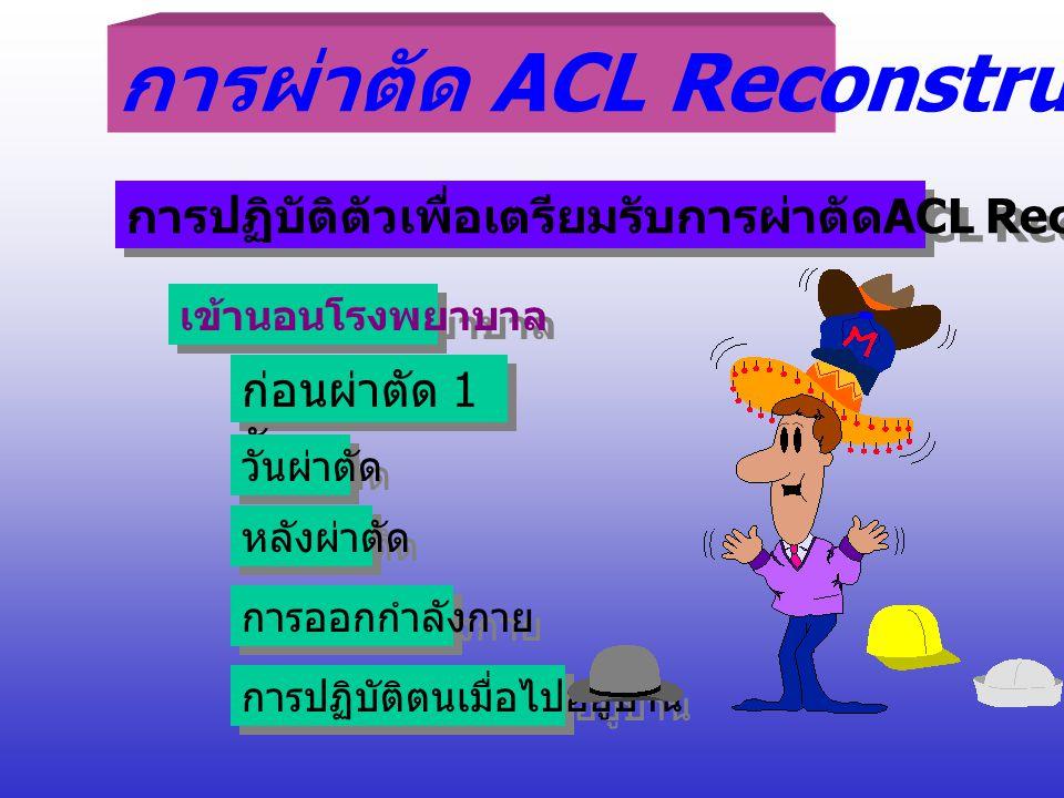 การผ่าตัด ACL Reconstruction