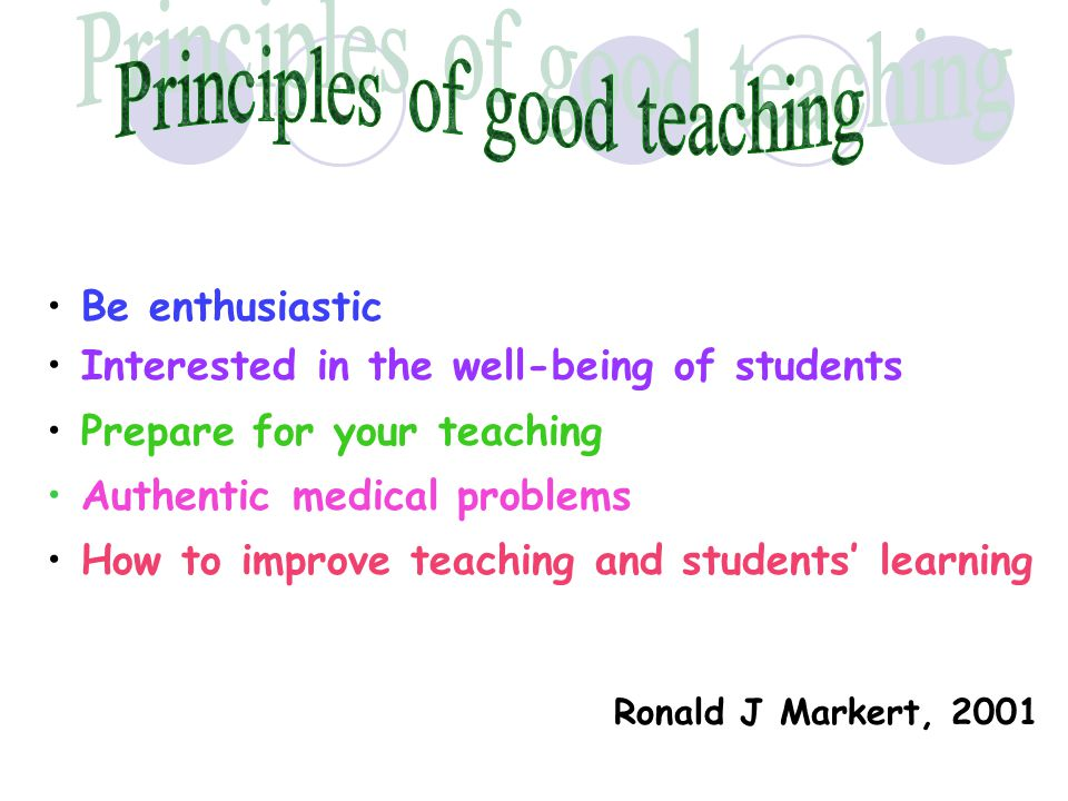 Principles of good teaching