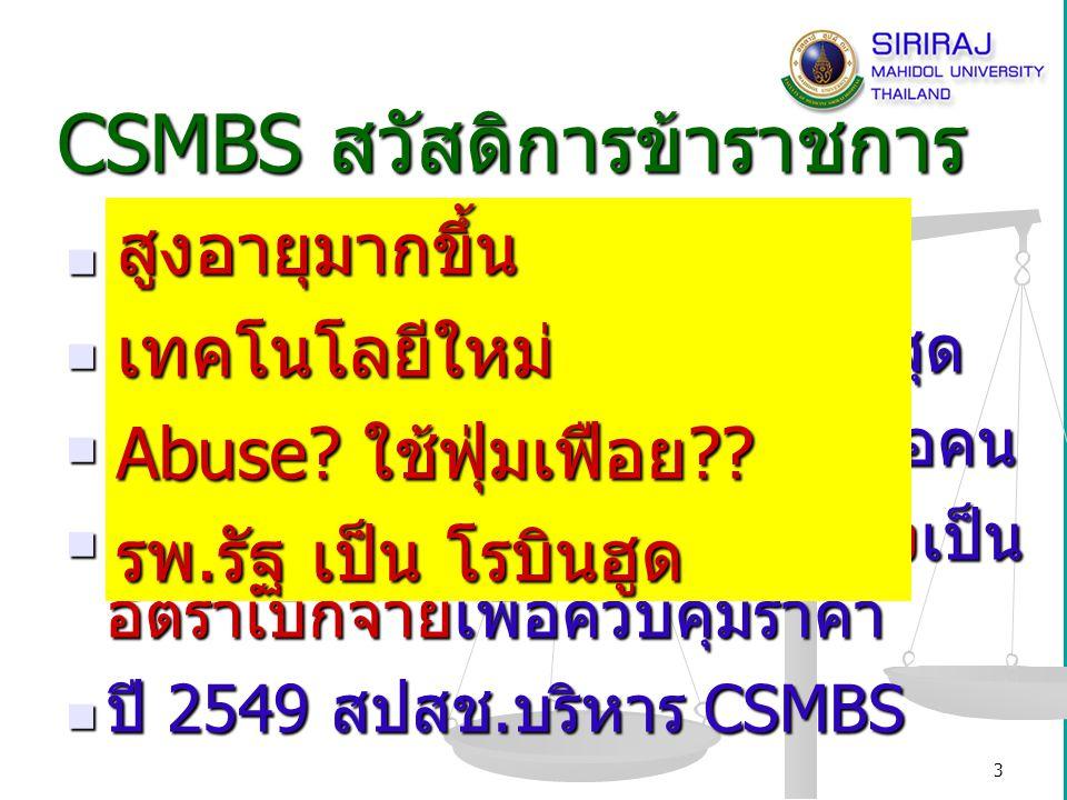 CSMBS สวัสดิการข้าราชการ