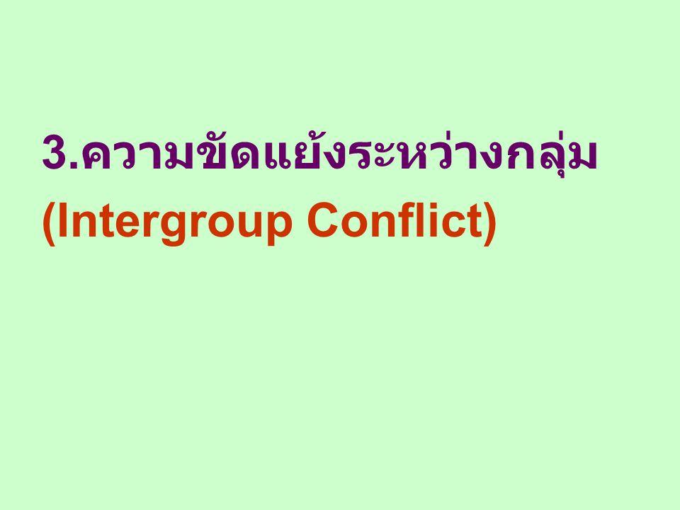 3.ความขัดแย้งระหว่างกลุ่ม
