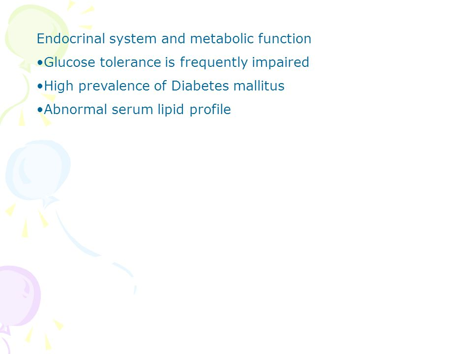 Endocrinal system and metabolic function