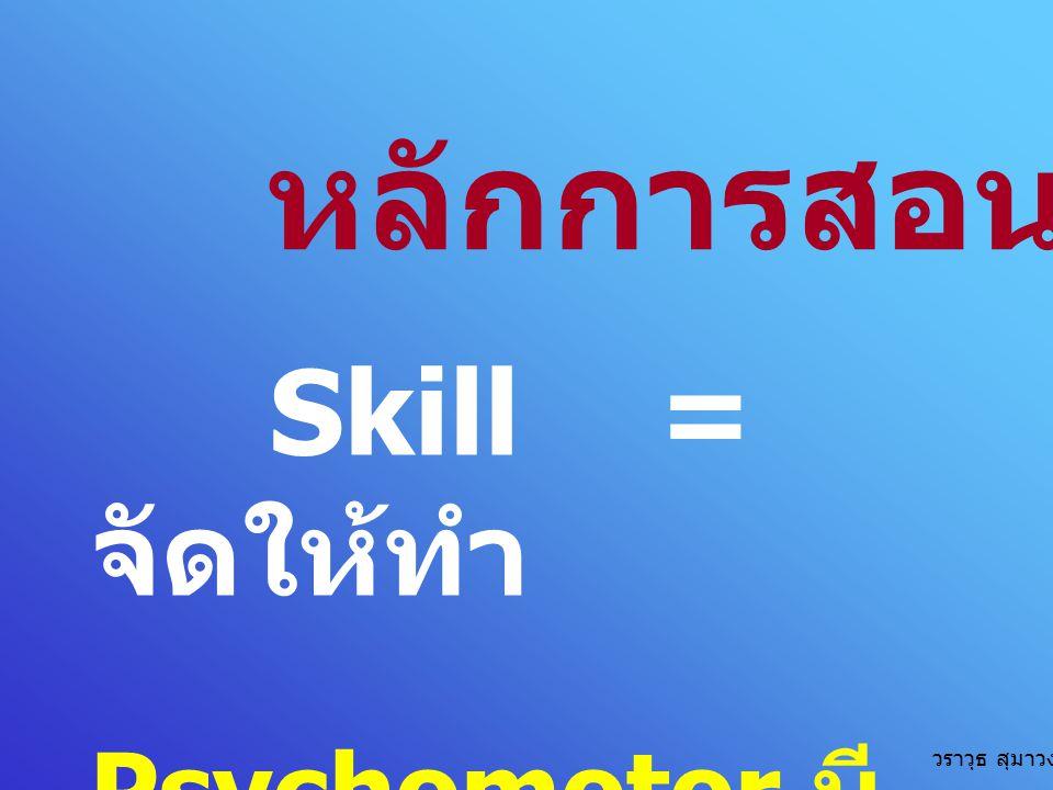 หลักการสอน Skill = จัดให้ทำ Psychomotor มี CAP วราวุธ สุมาวงศ์