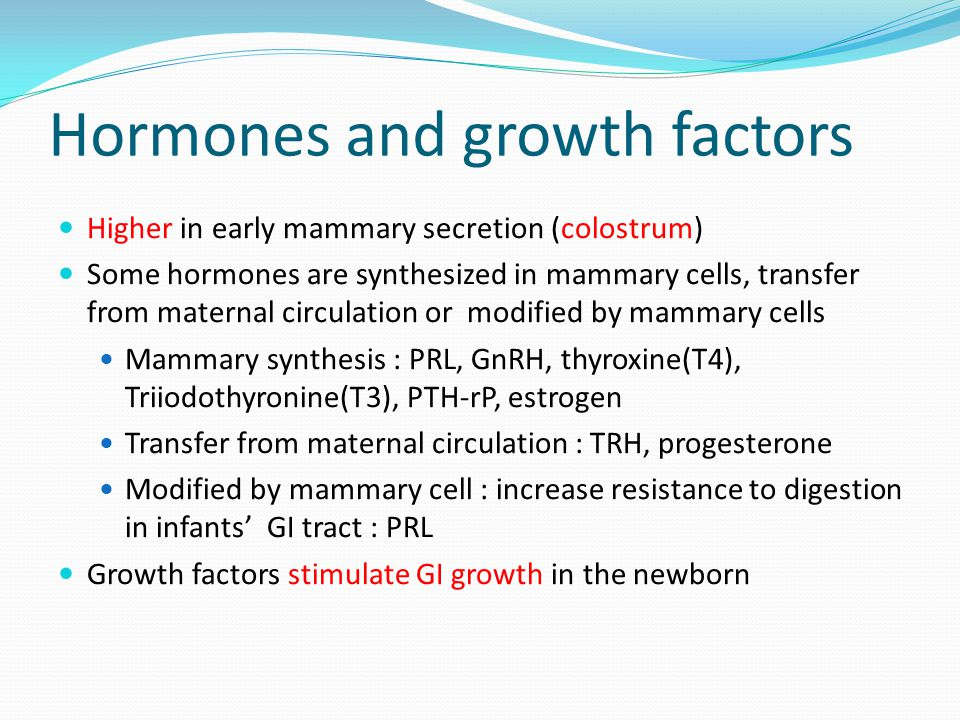 Hormones and growth factors