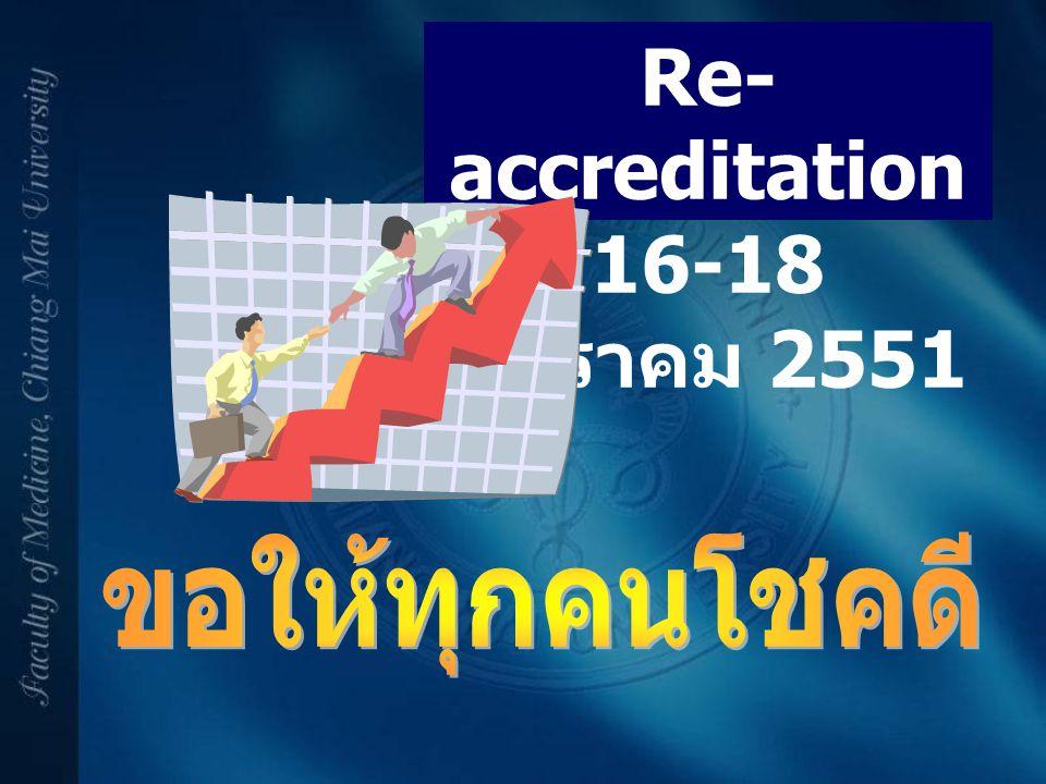 Re-accreditation 16-18 มกราคม 2551