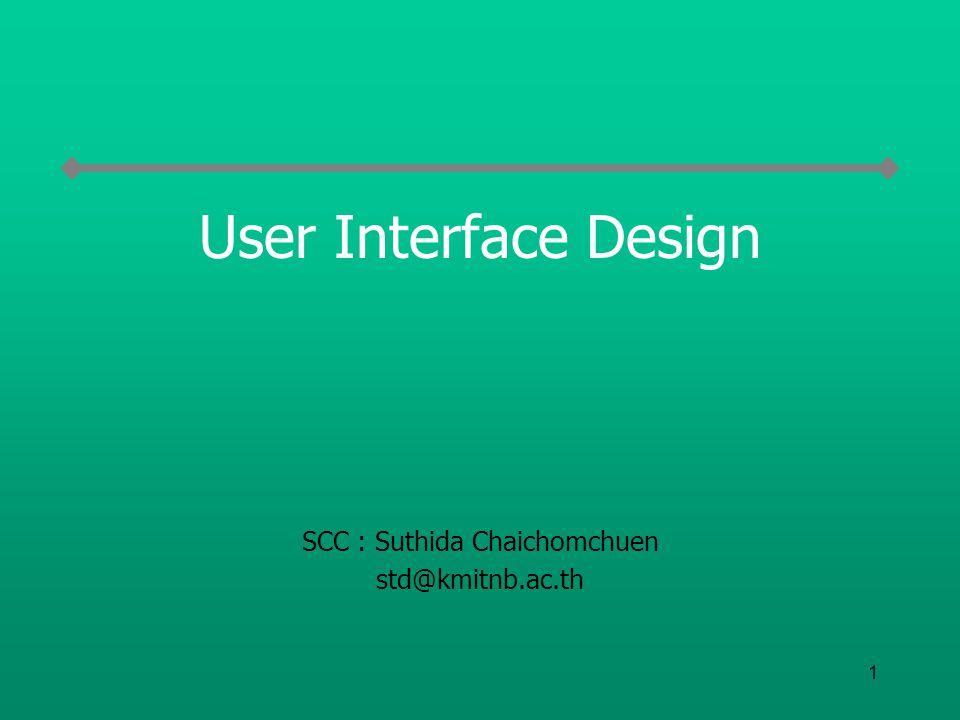 SCC : Suthida Chaichomchuen std@kmitnb.ac.th