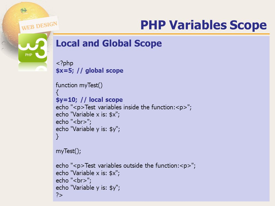 PHP Variables Scope Local and Global Scope