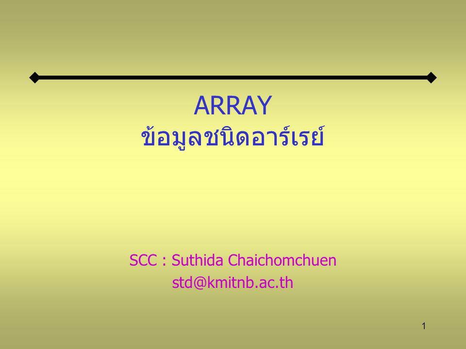 ARRAY ข้อมูลชนิดอาร์เรย์