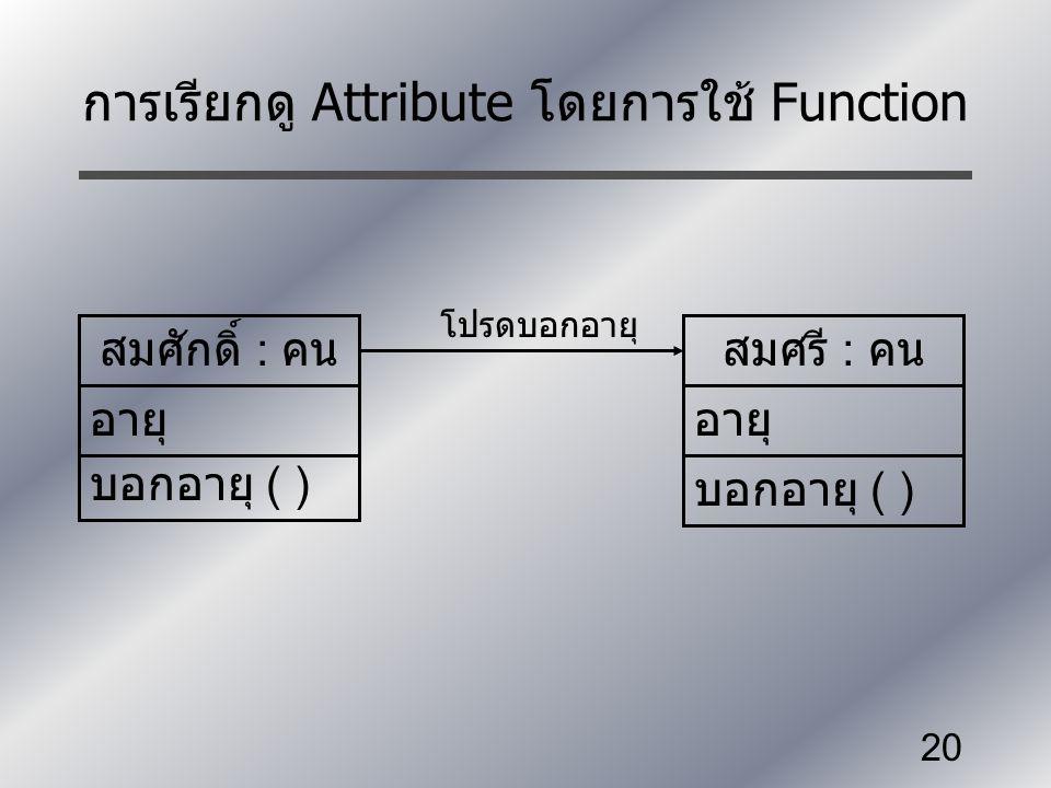 การเรียกดู Attribute โดยการใช้ Function