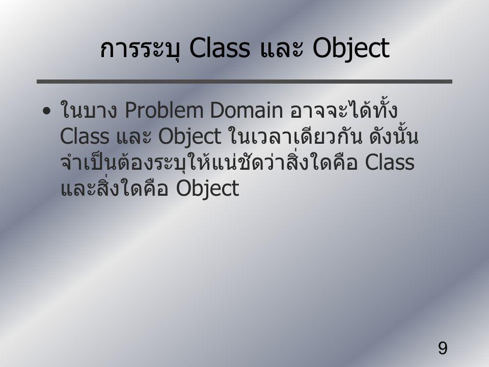 การระบุ Class และ Object