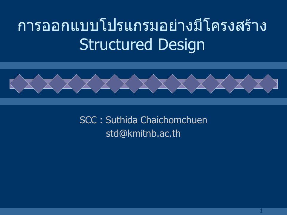การออกแบบโปรแกรมอย่างมีโครงสร้าง Structured Design