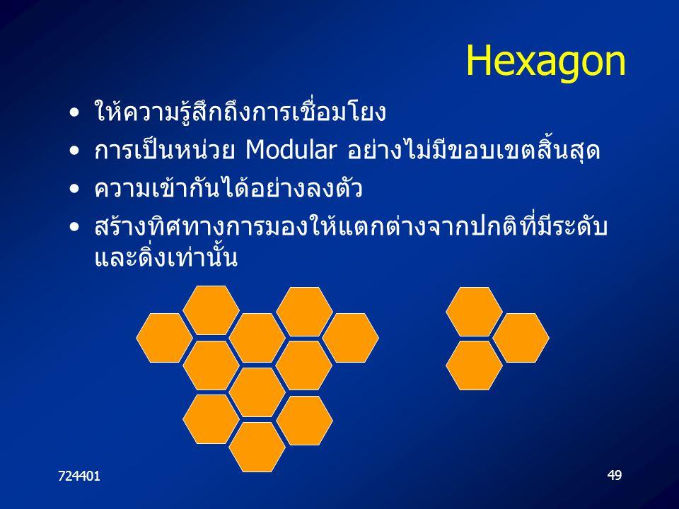 Hexagon ให้ความรู้สึกถึงการเชื่อมโยง