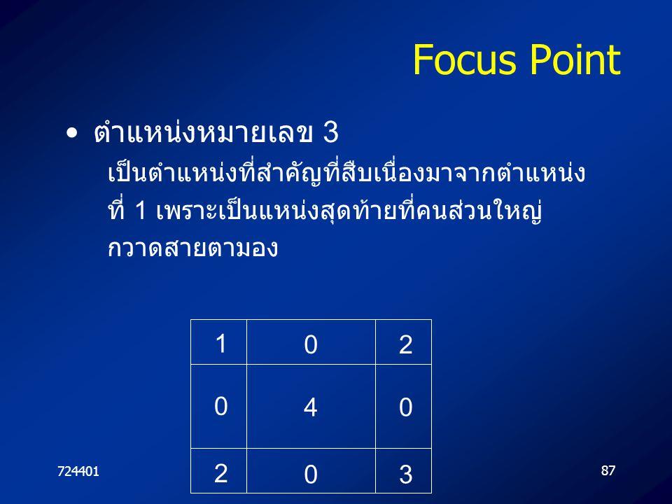 Focus Point ตำแหน่งหมายเลข 3