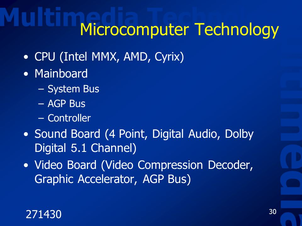 Microcomputer Technology
