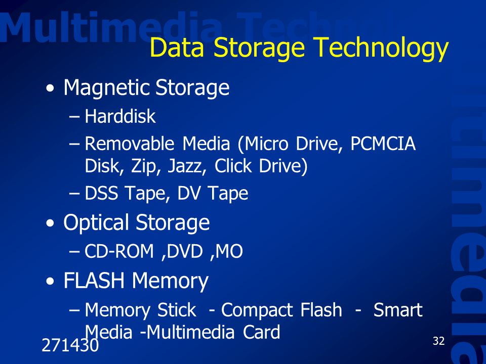 Data Storage Technology