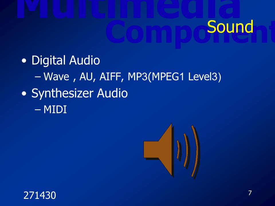Multimedia Component Sound Digital Audio Synthesizer Audio