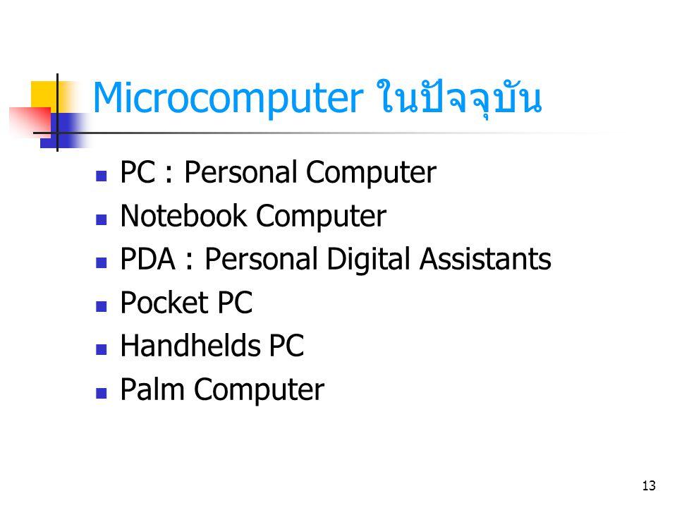 Microcomputer ในปัจจุบัน
