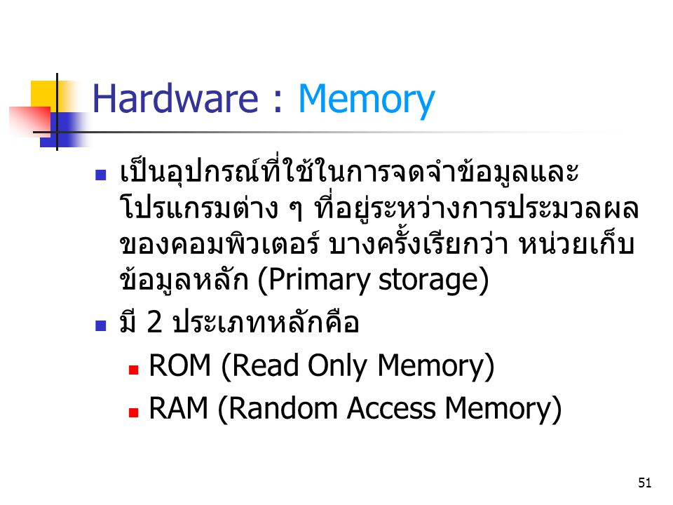 Hardware : Memory