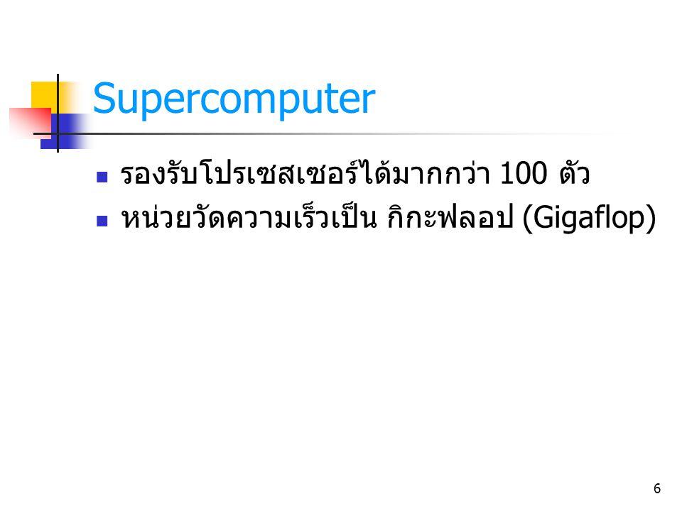 Supercomputer รองรับโปรเซสเซอร์ได้มากกว่า 100 ตัว