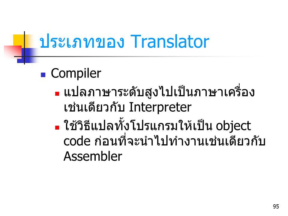 ประเภทของ Translator Compiler