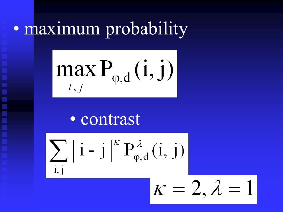 maximum probability contrast