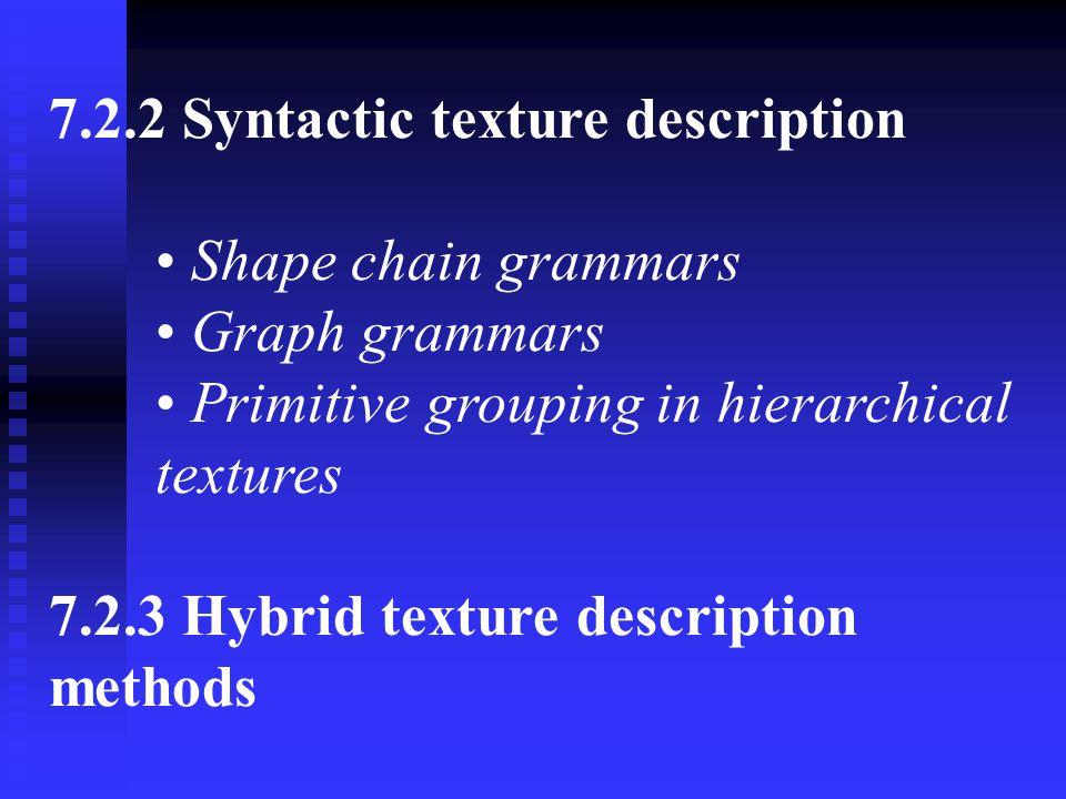 7.2.2 Syntactic texture description