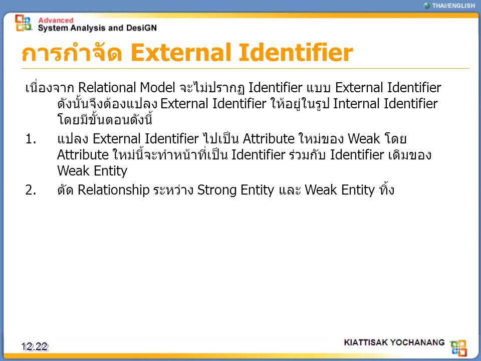 การกำจัด External Identifier