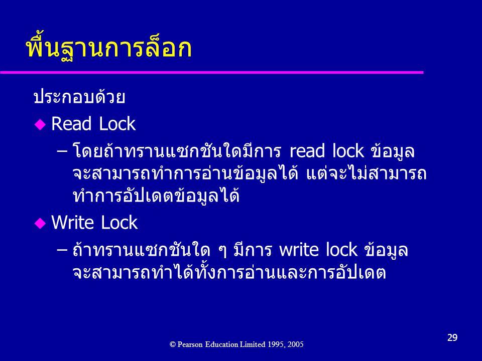 พื้นฐานการล็อก ประกอบด้วย Read Lock