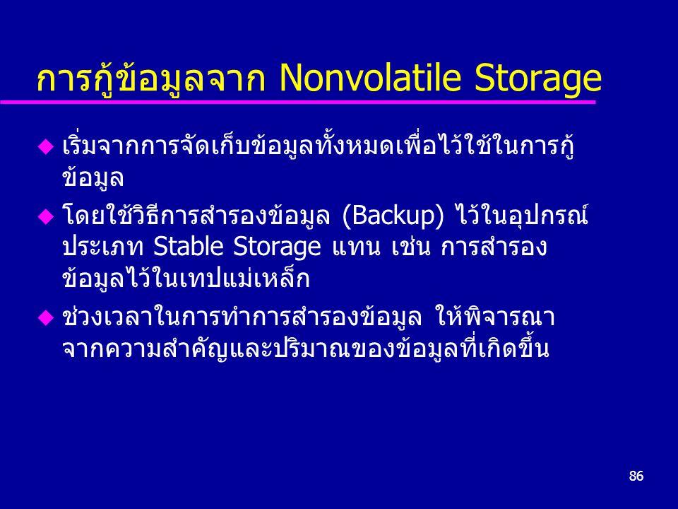 การกู้ข้อมูลจาก Nonvolatile Storage