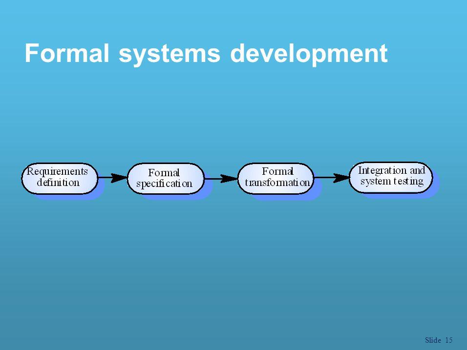 Formal systems development