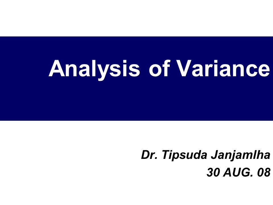 Dr. Tipsuda Janjamlha 30 AUG. 08