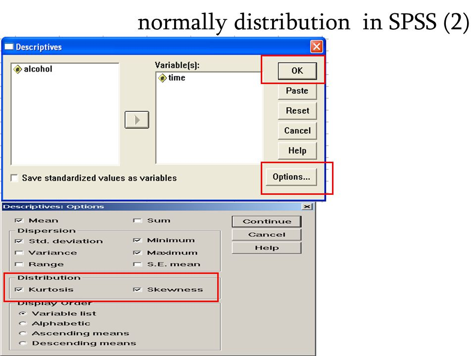 normally distribution in SPSS (2)