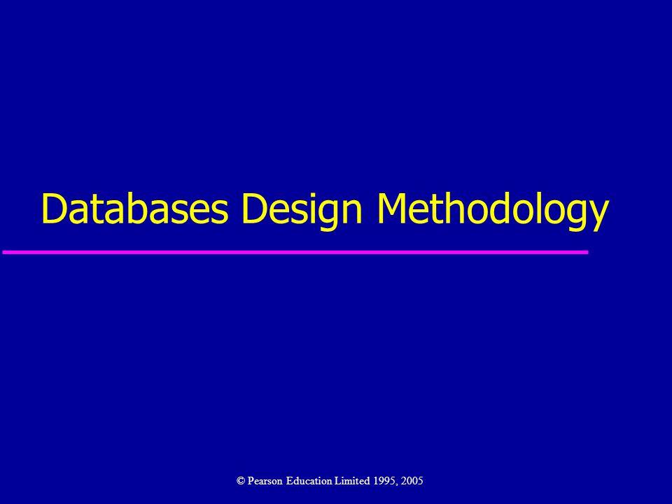 Databases Design Methodology