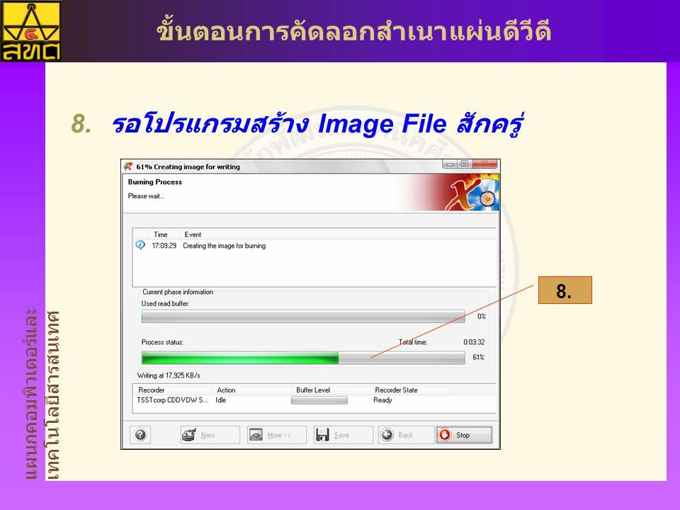 รอโปรแกรมสร้าง Image File สักครู่
