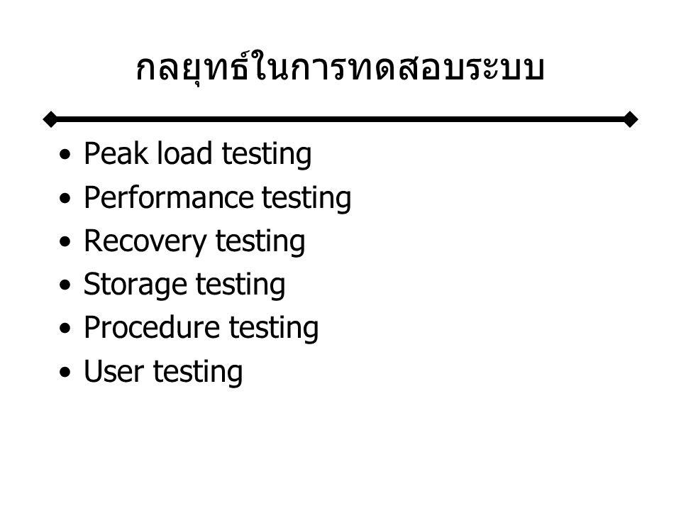 กลยุทธ์ในการทดสอบระบบ