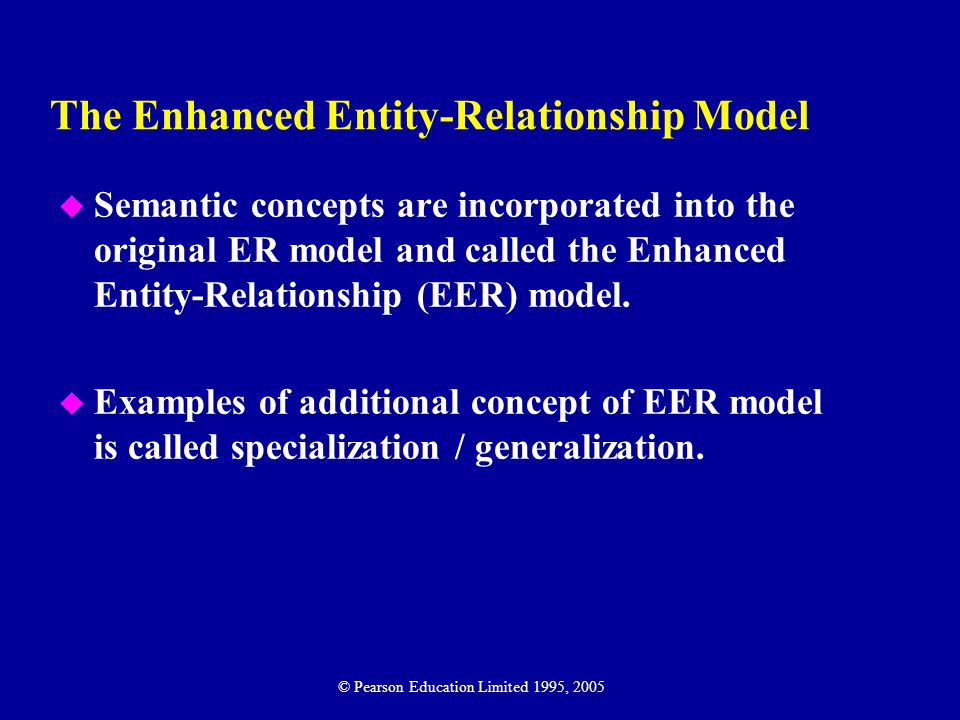 The Enhanced Entity-Relationship Model