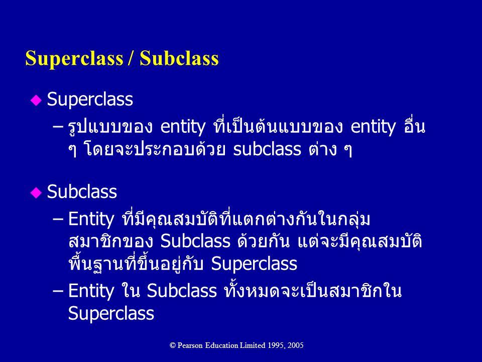 Superclass / Subclass Superclass
