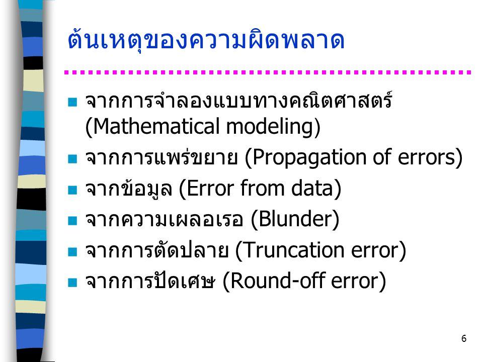 ต้นเหตุของความผิดพลาด