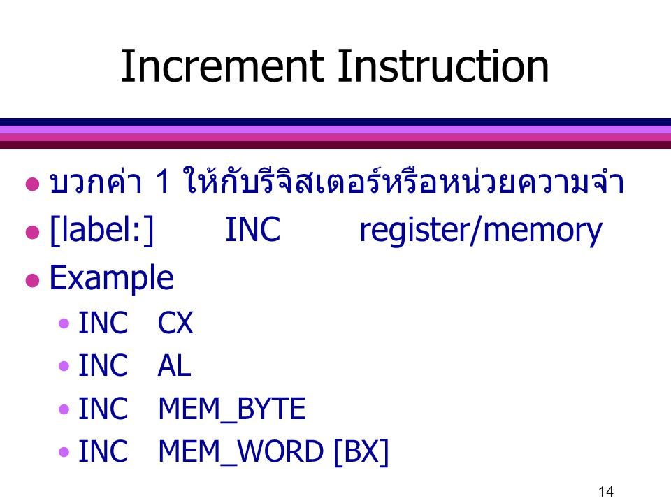 Increment Instruction
