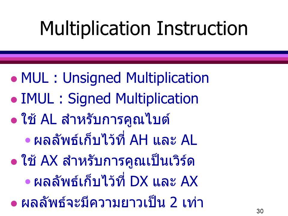 Multiplication Instruction