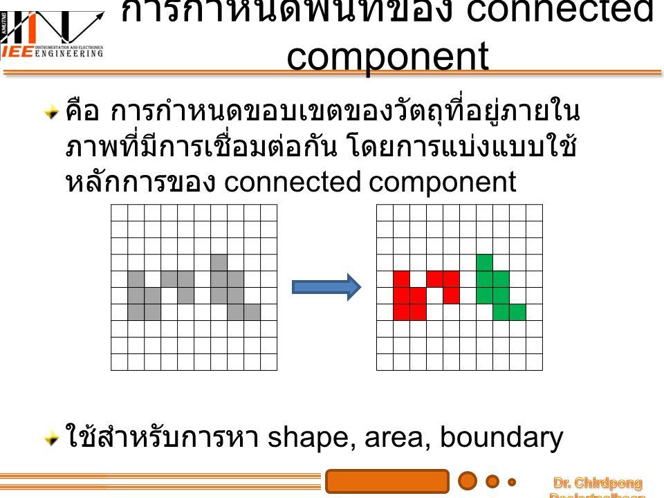 การกำหนดพื้นที่ของ connected component