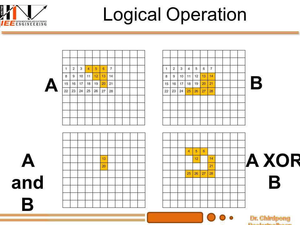 Logical Operation B A XOR = ตรงข้ามกับ ก็ต่อเมื่อ A and B A XOR B