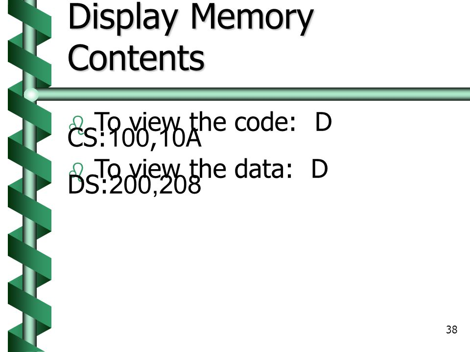 Display Memory Contents