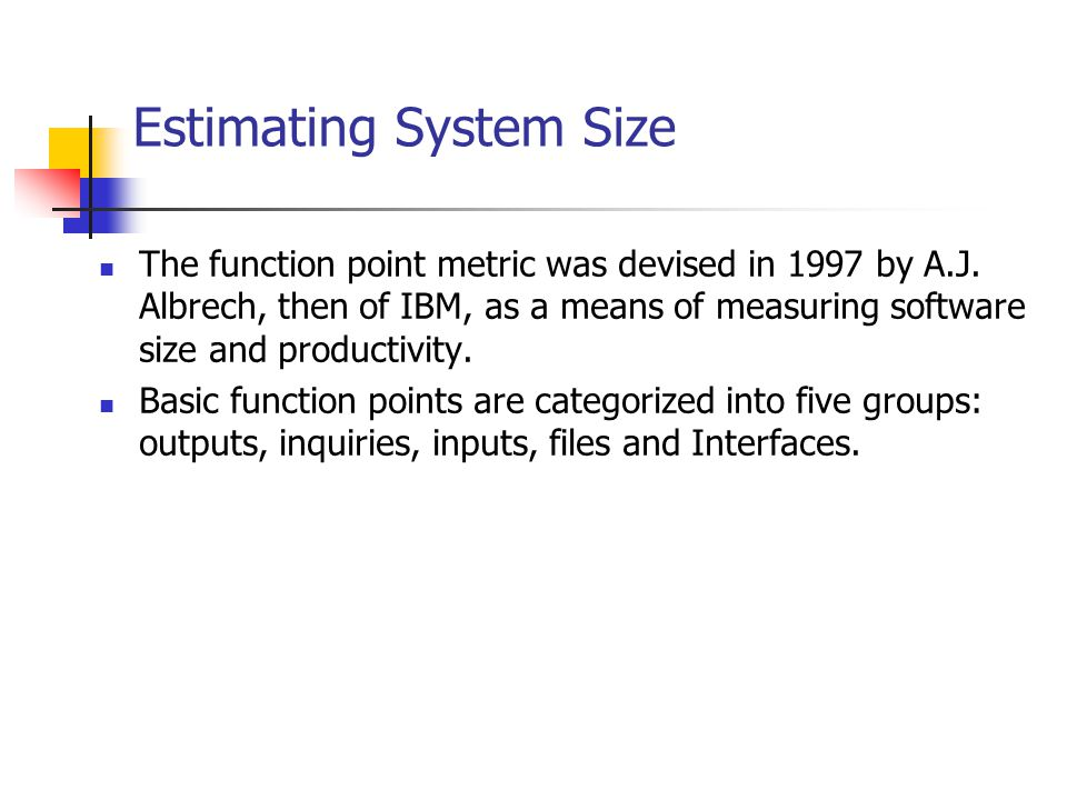 Estimating System Size