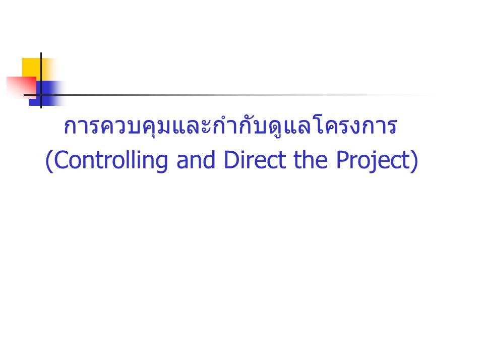 การควบคุมและกำกับดูแลโครงการ